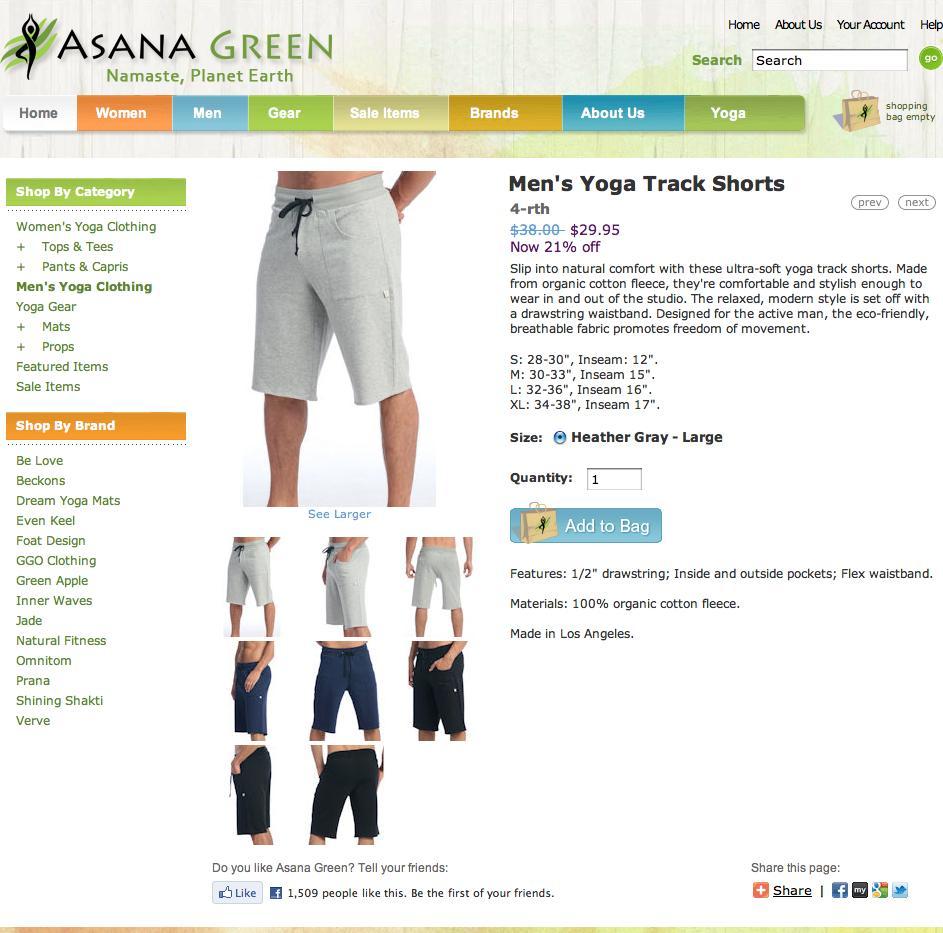 Product Description: Yoga Apparel