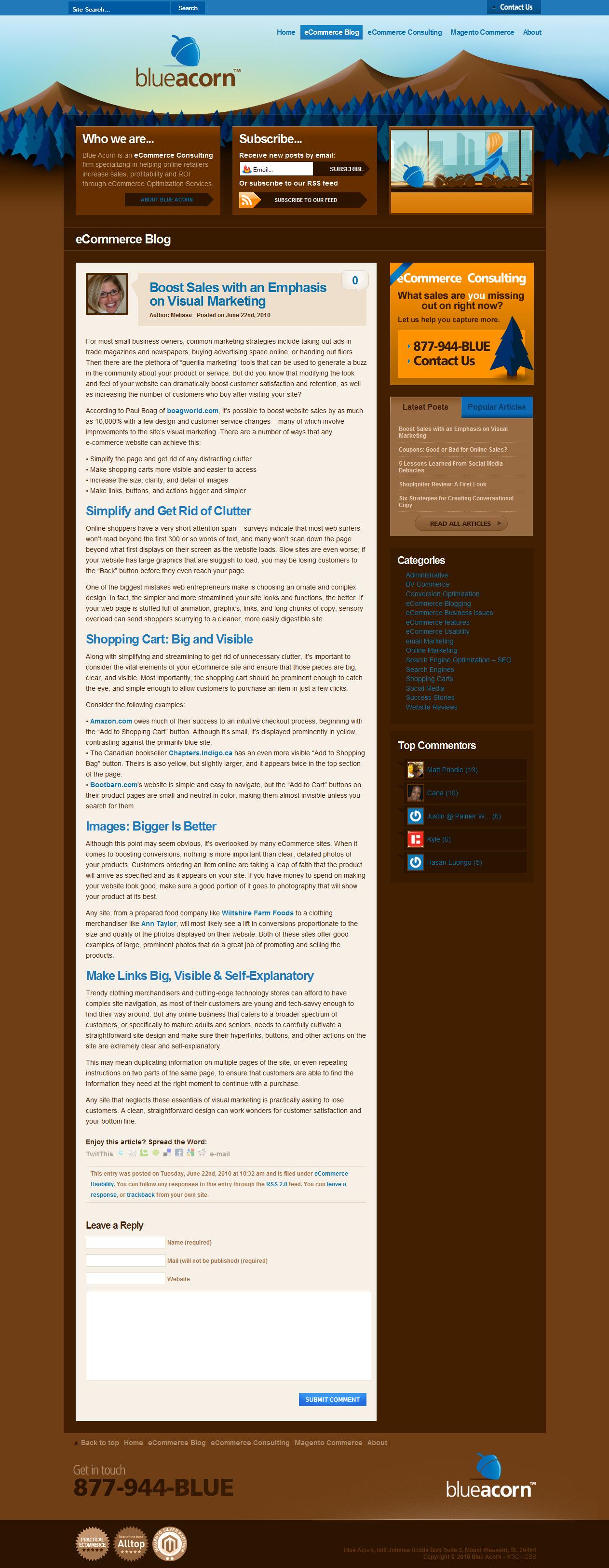Ecommerce Article: Visual Marketing