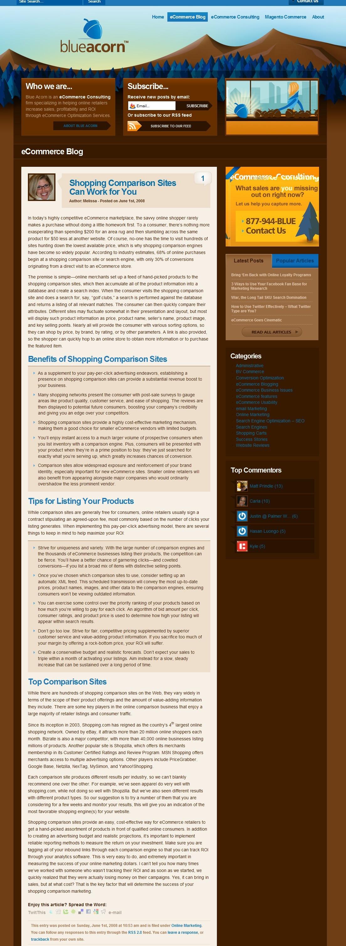 Ecommerce Article: Shopping Comparison Sites