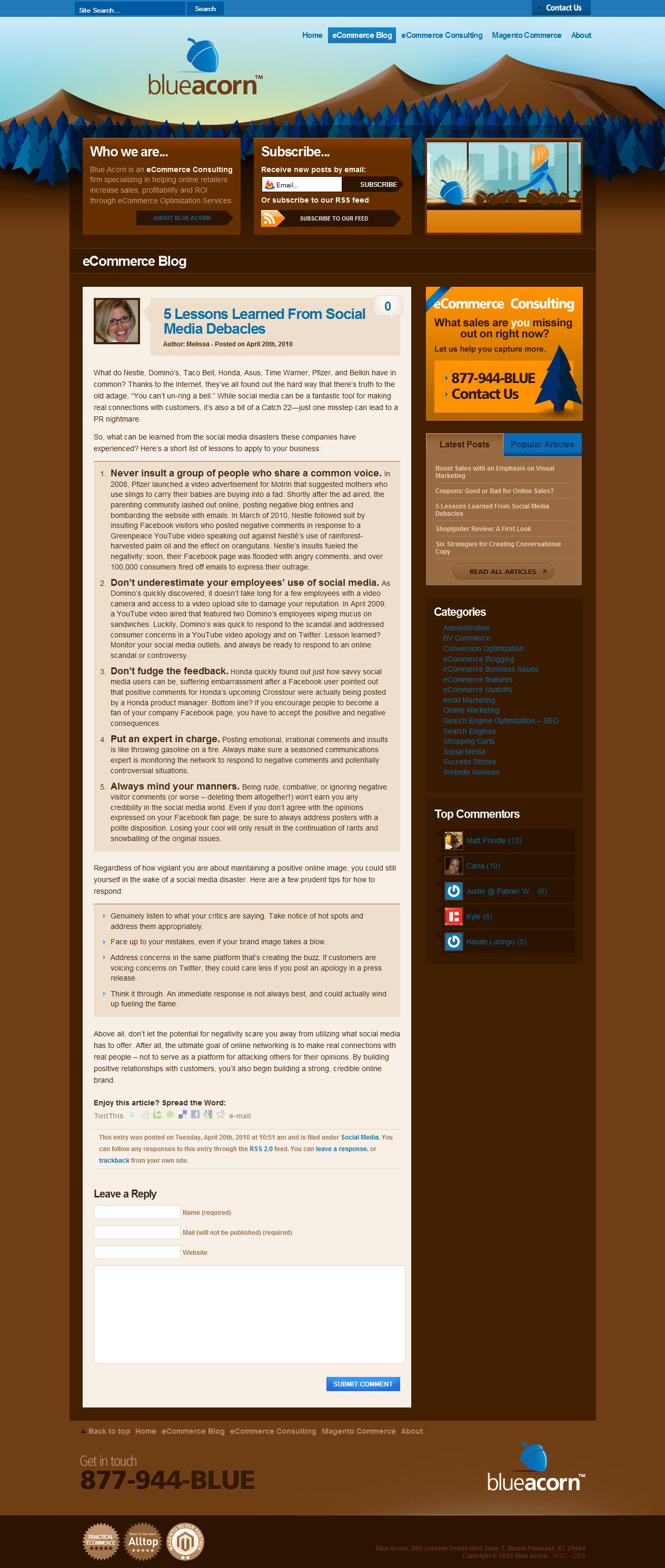 Ecommerce Article: Social Media