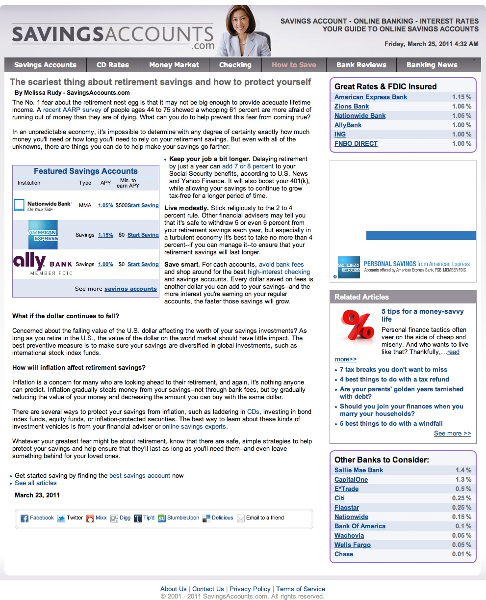 Finance Article: Retirement Savings