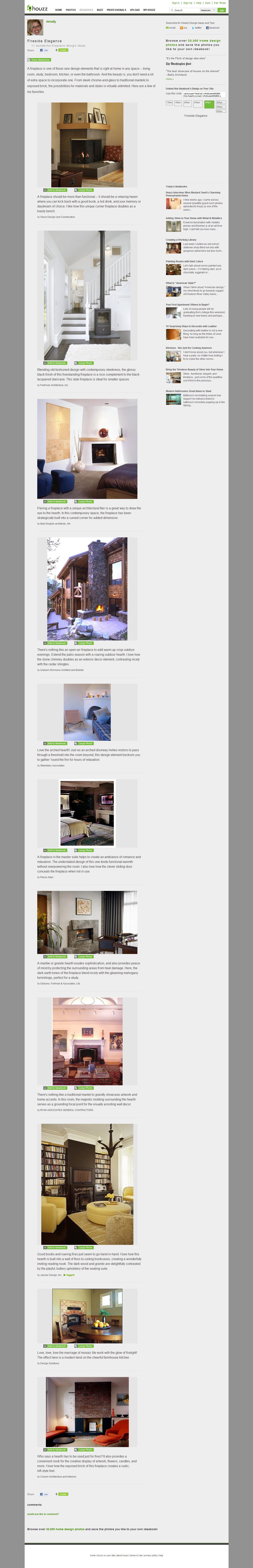 Home Decor Article: Fireplace Ideas