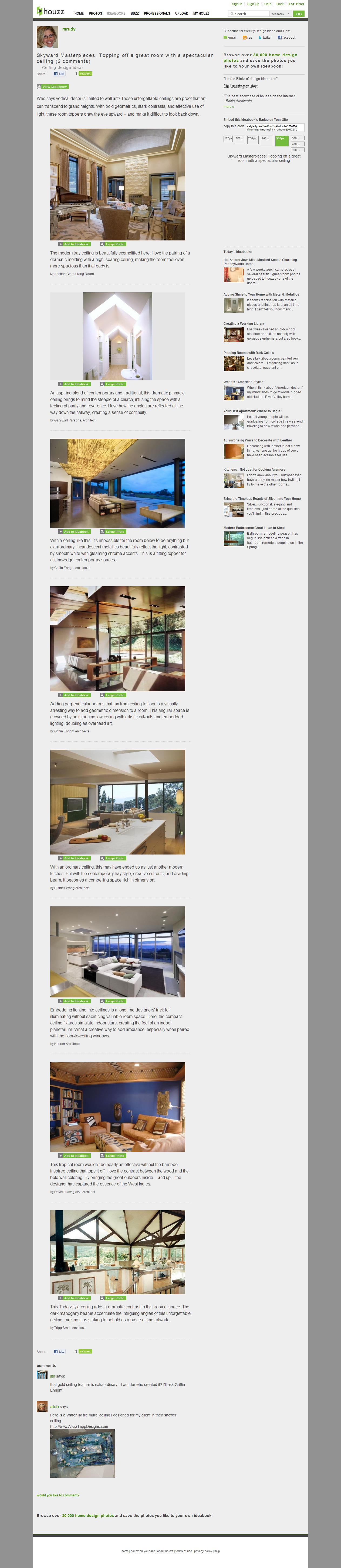 Home Decor Article: Ceiling Design Ideas