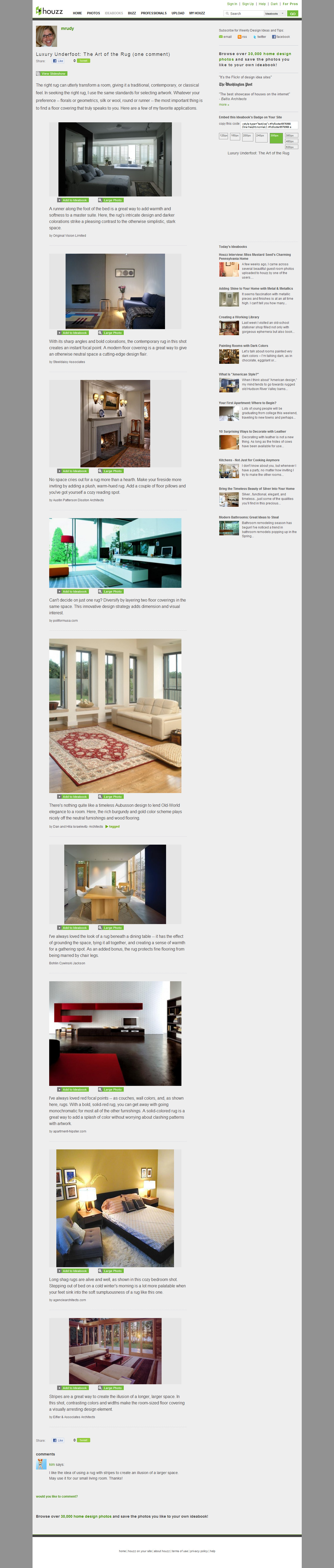Home Decor Article: Art of the Rug