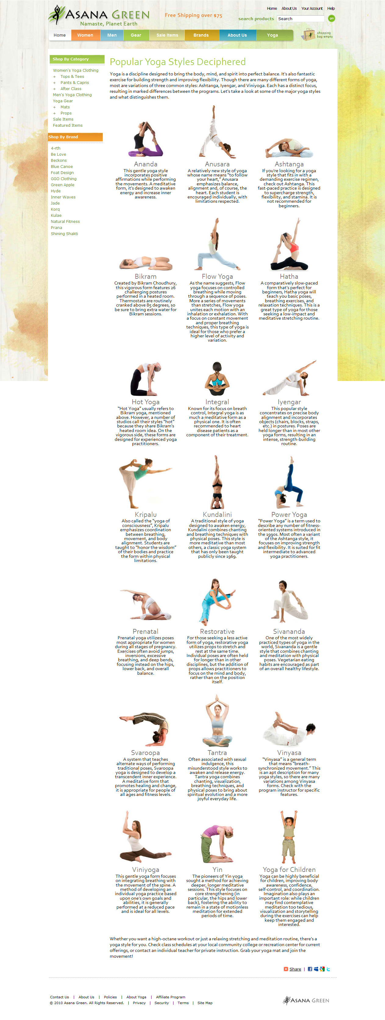 Fitness Article: Styles of Yoga
