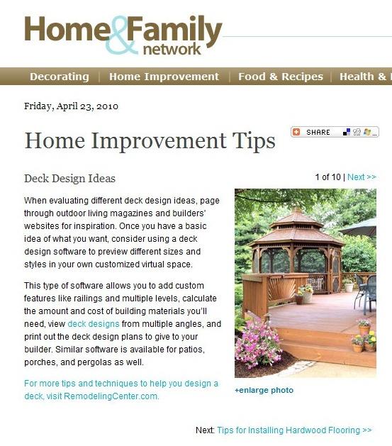 Home Renovation Article: Deck Design Ideas