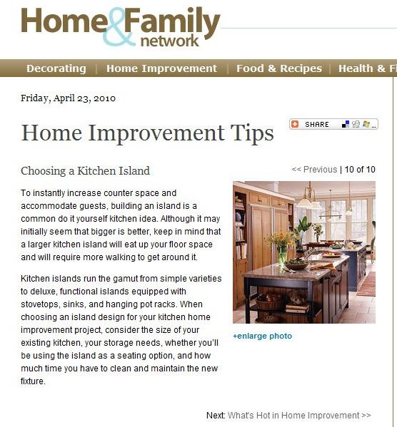 Home Renovation Article: Choosing a Kitchen Island