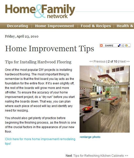 Home Renovation Article: Tips for Hardwood Flooring