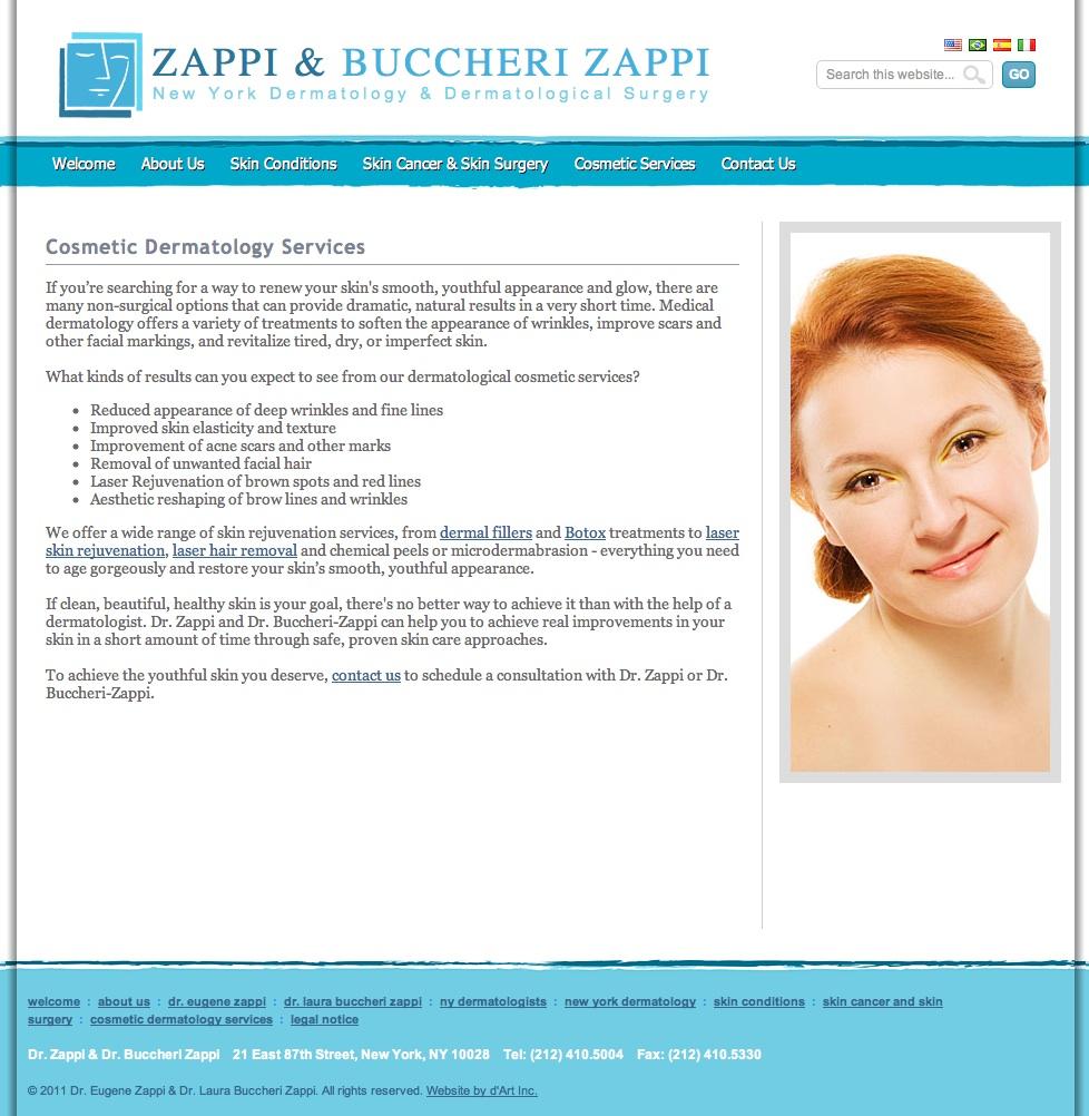 Website Content: Dermatology
