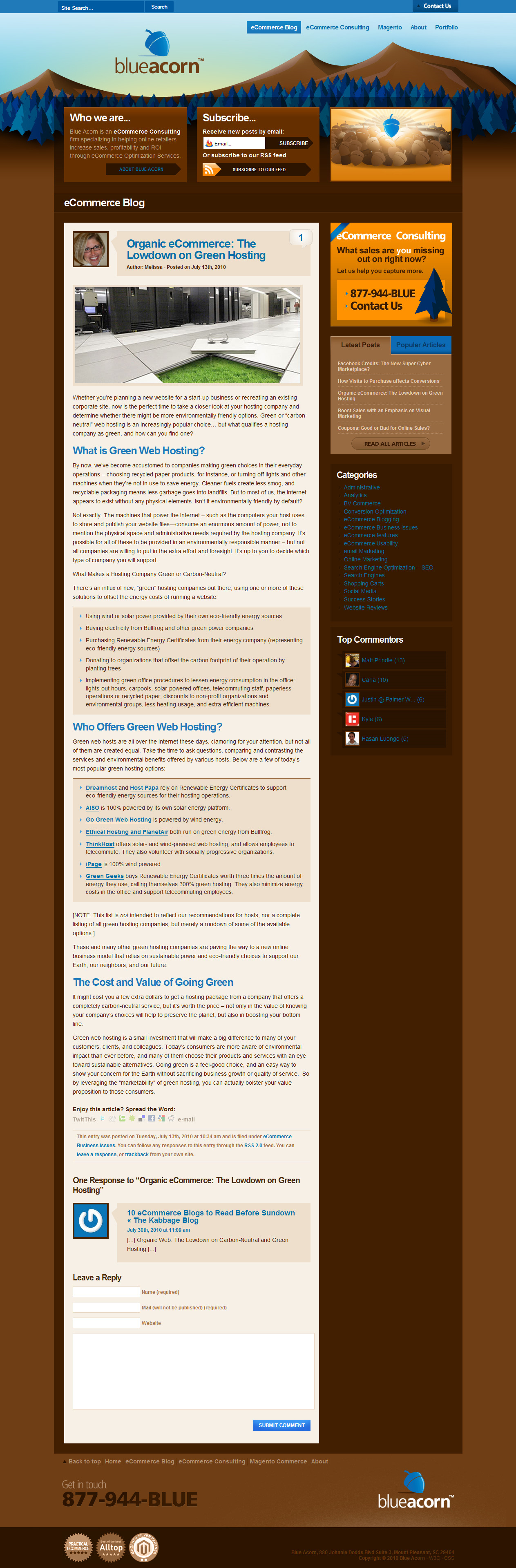 Ecommerce Article: Organic Ecommerce