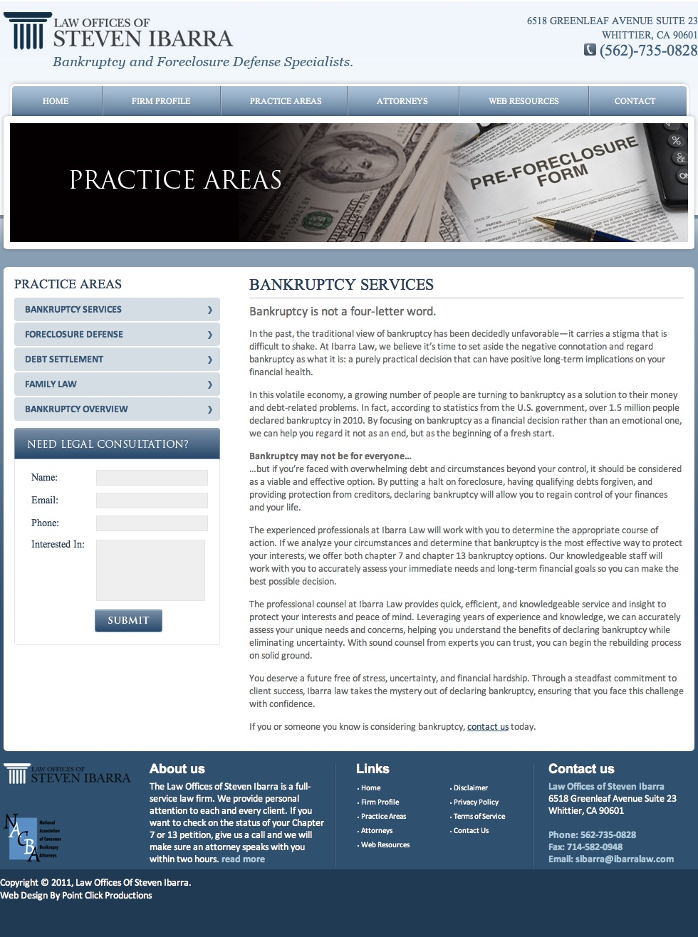 Web Content: Bankruptcy Lawyer