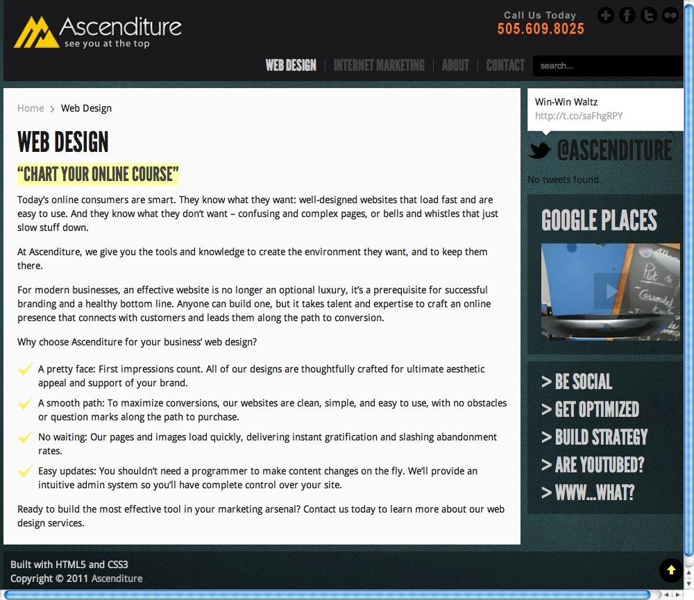 About Page Copy: Ascenditure Web Design