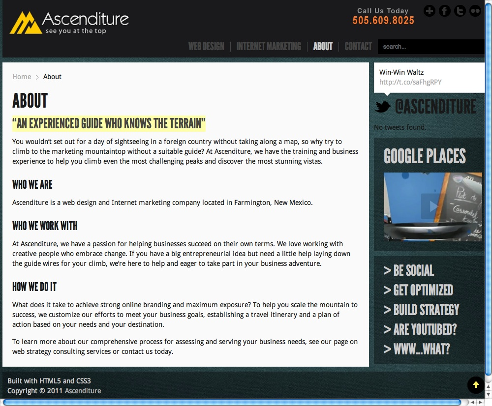 Web Copy: Ascenditure Web Design