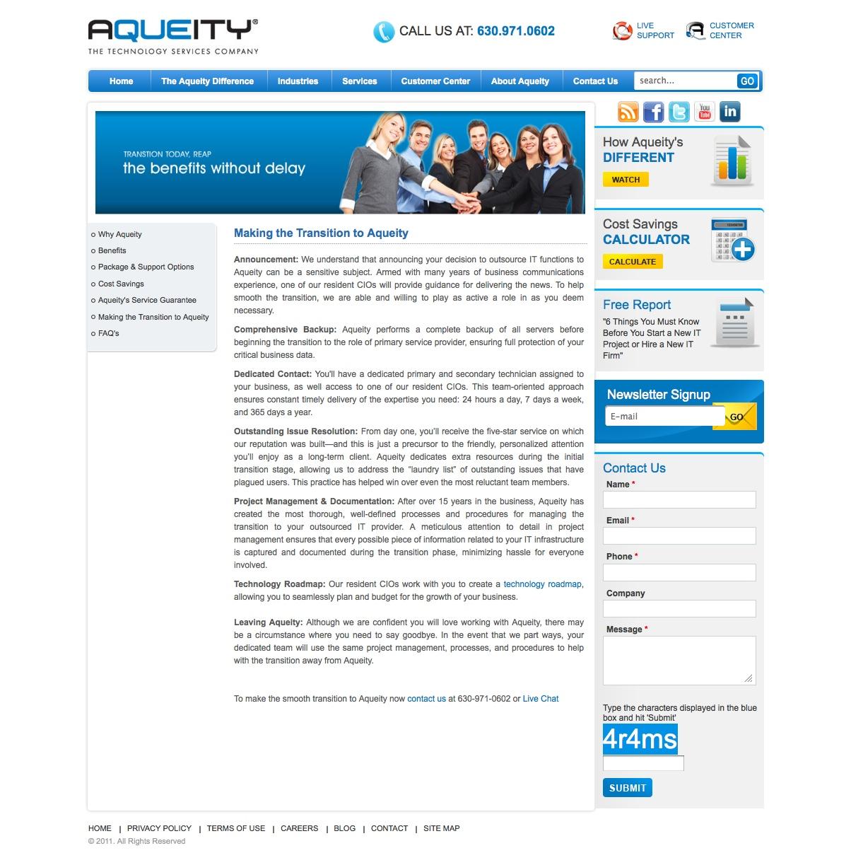Web Page Copy: IT Services