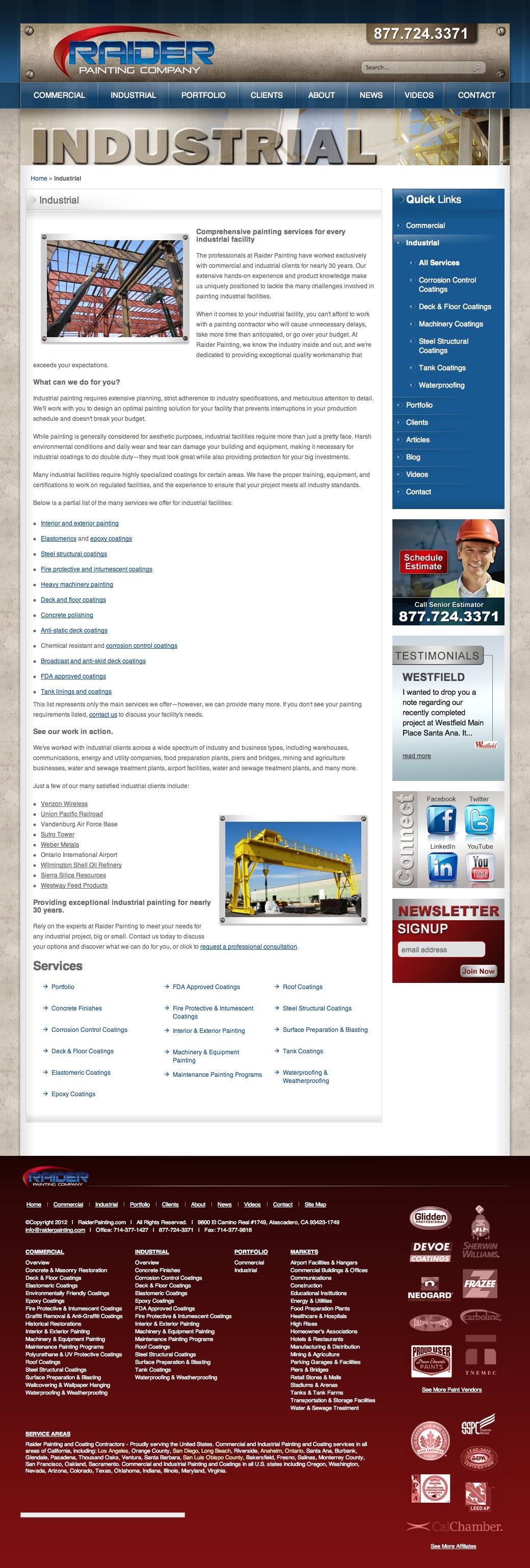 Web Copy: Industrial Painting