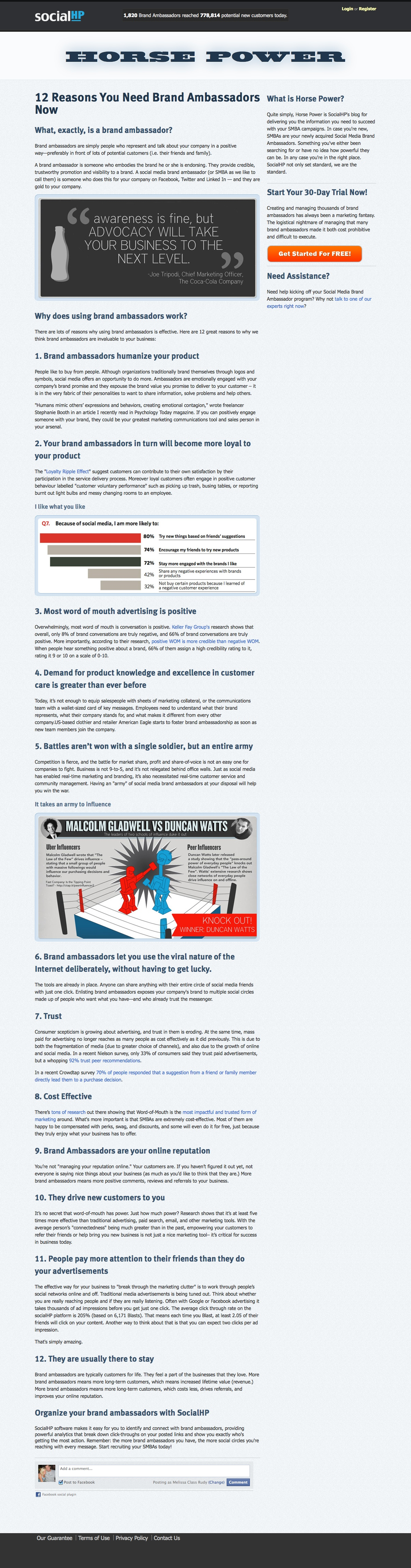 Marketing Article: socialHP