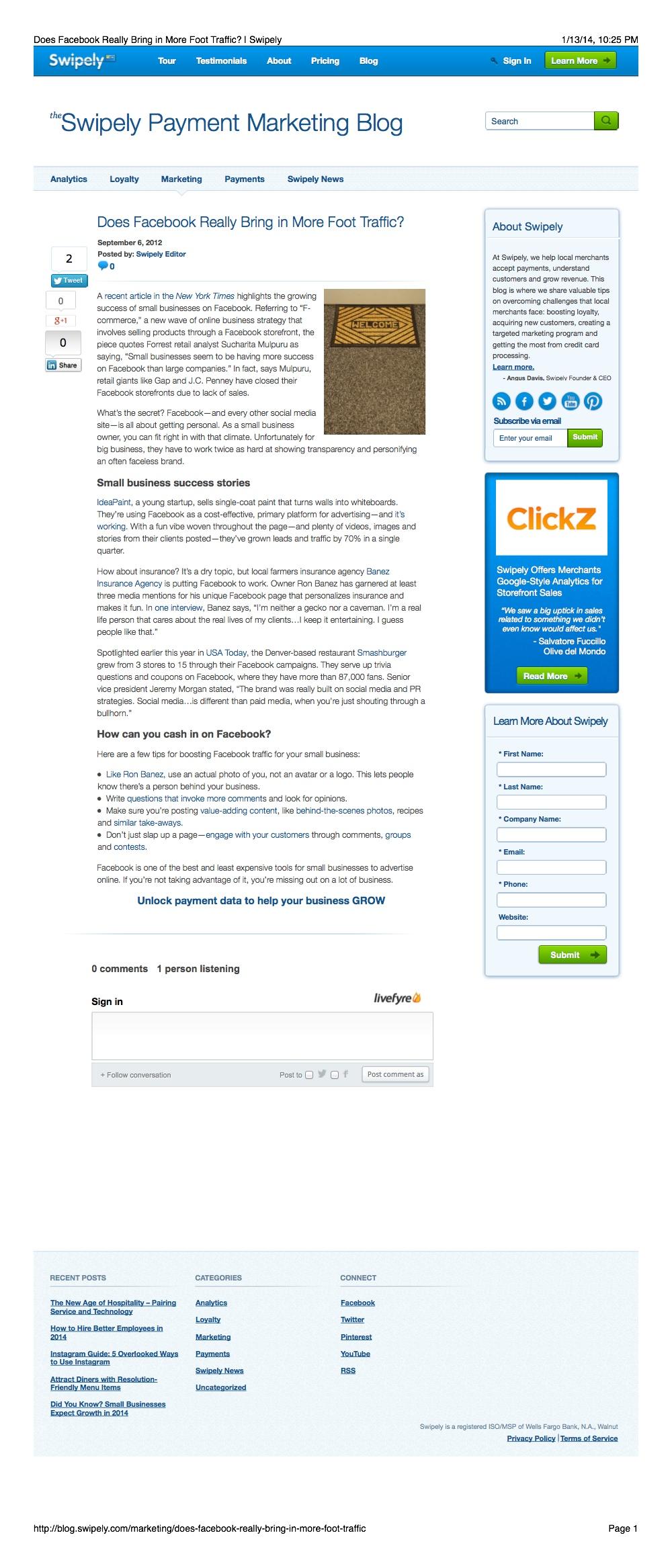 Social Media Articles: Facebook Marketing