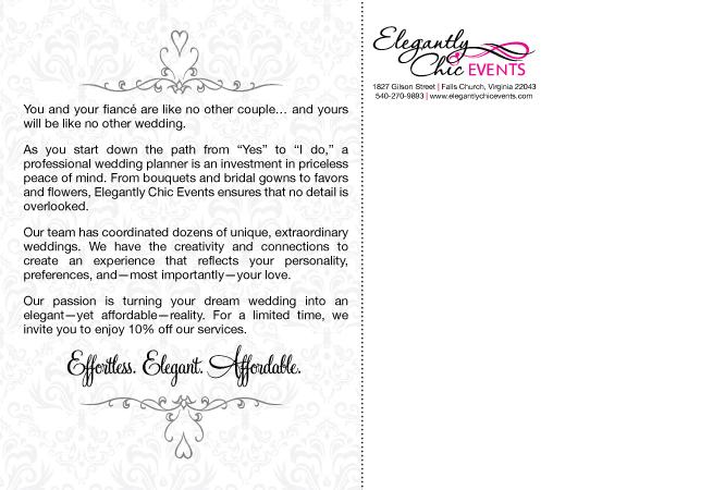 Postcard Copy (Back): Wedding Planner
