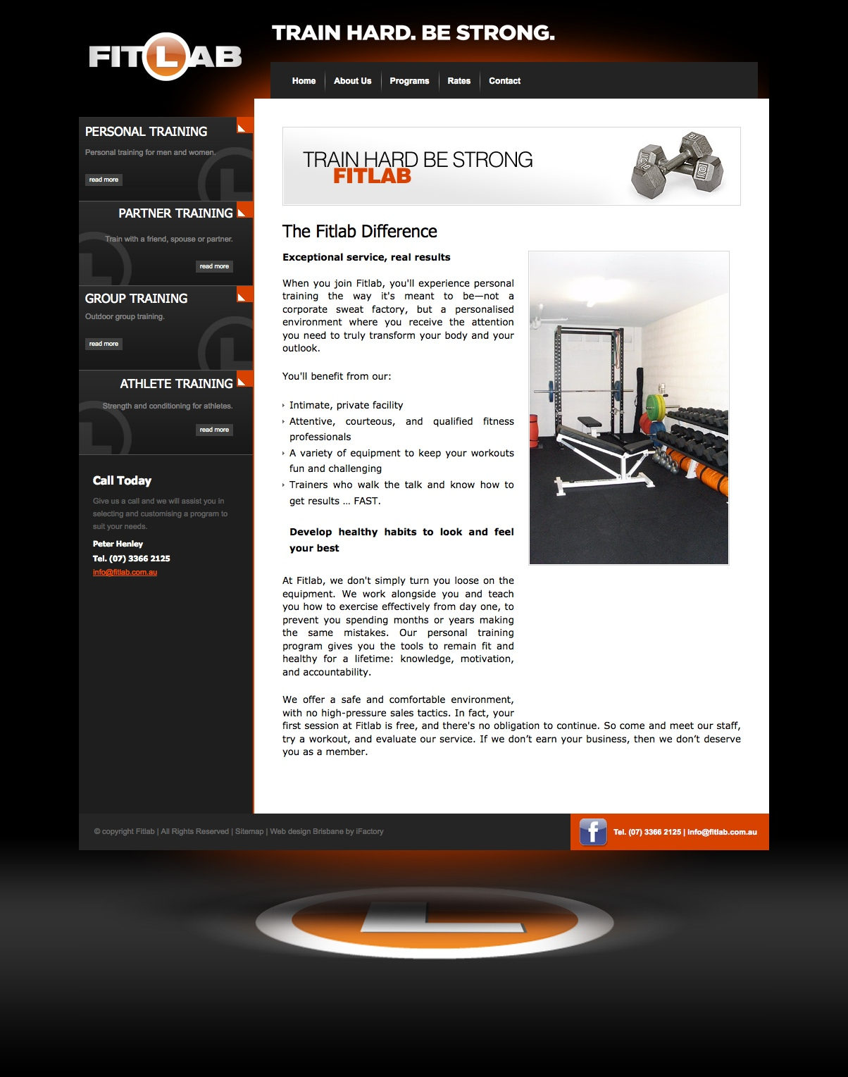 Web Content: Personal Training