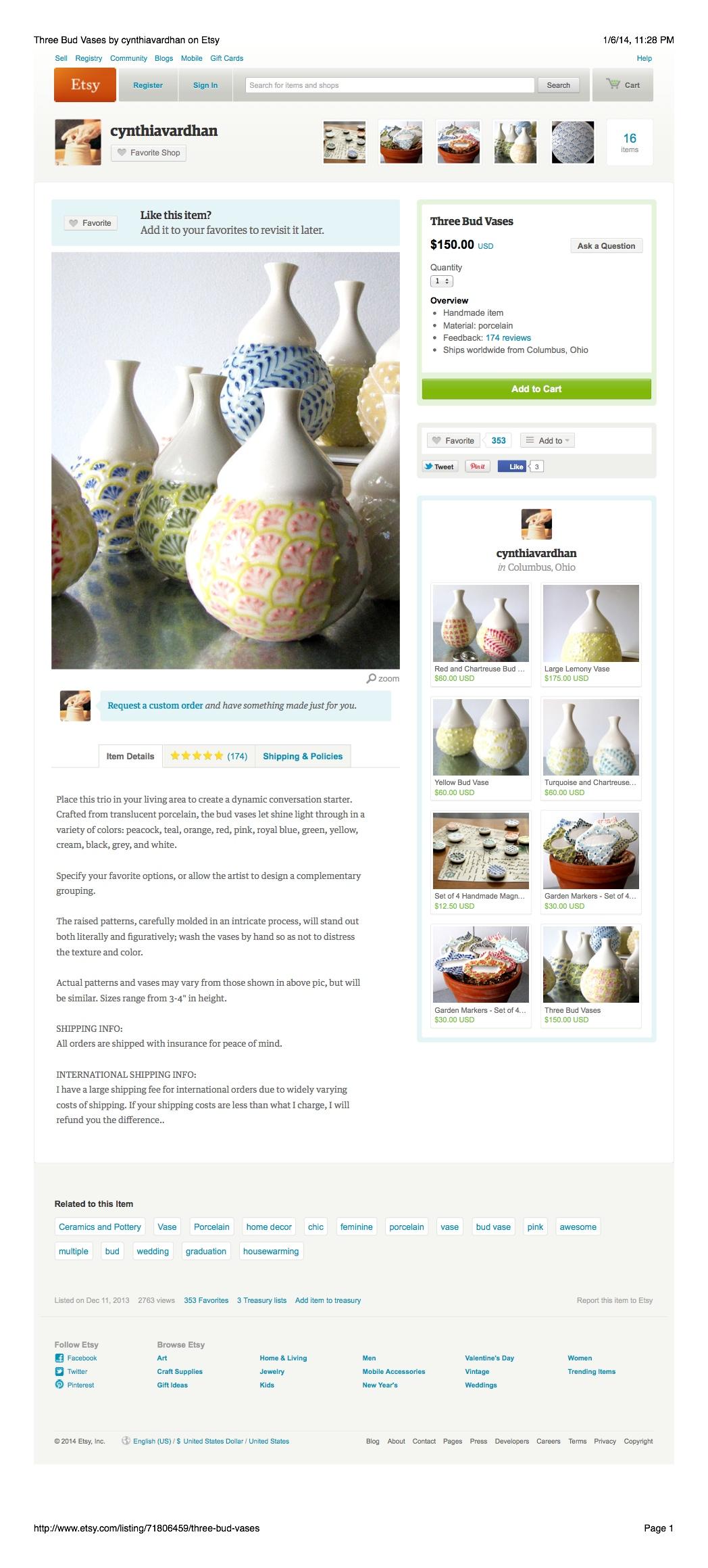 Product Description: Handmade Pottery