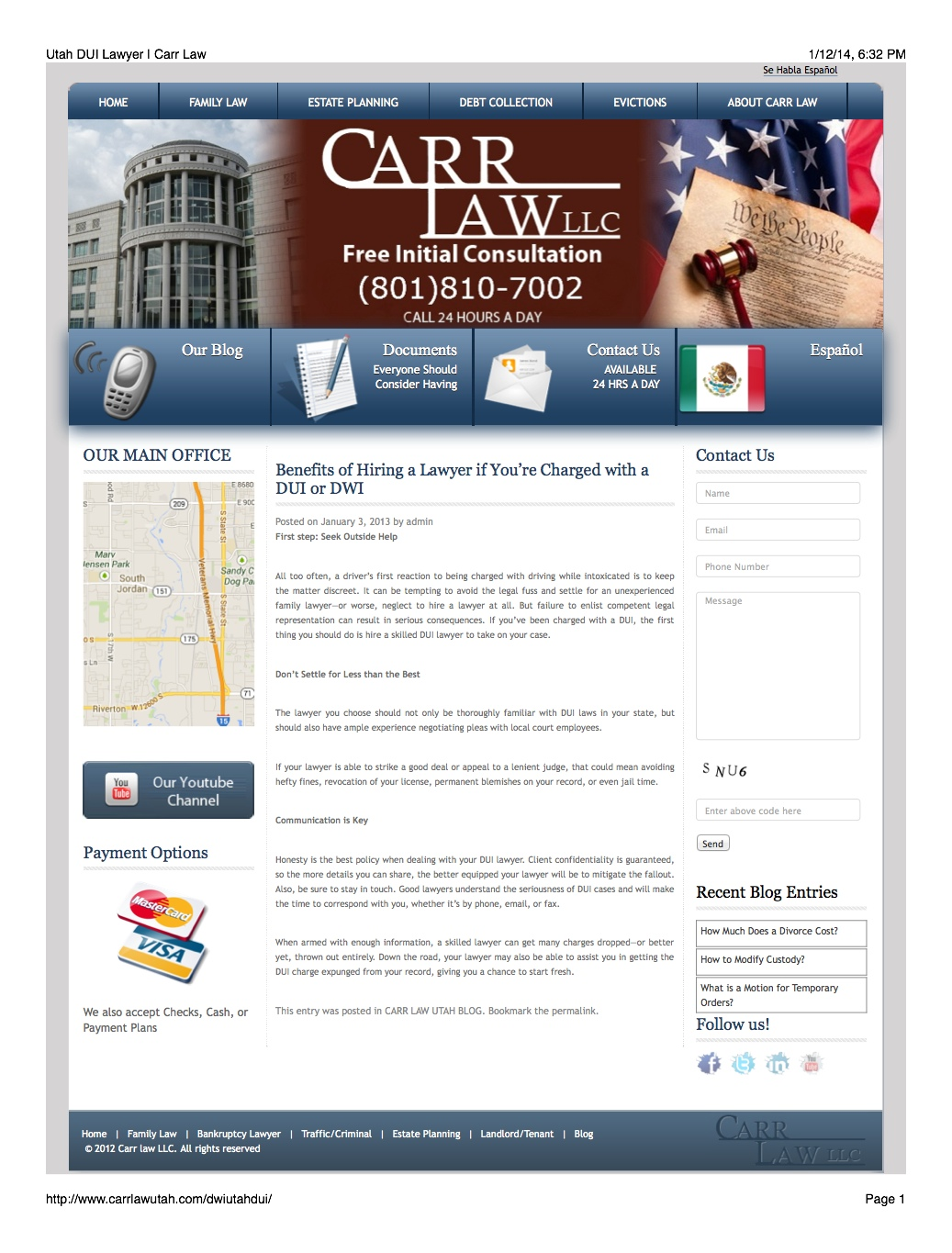 Legal Article: DUI Attorney