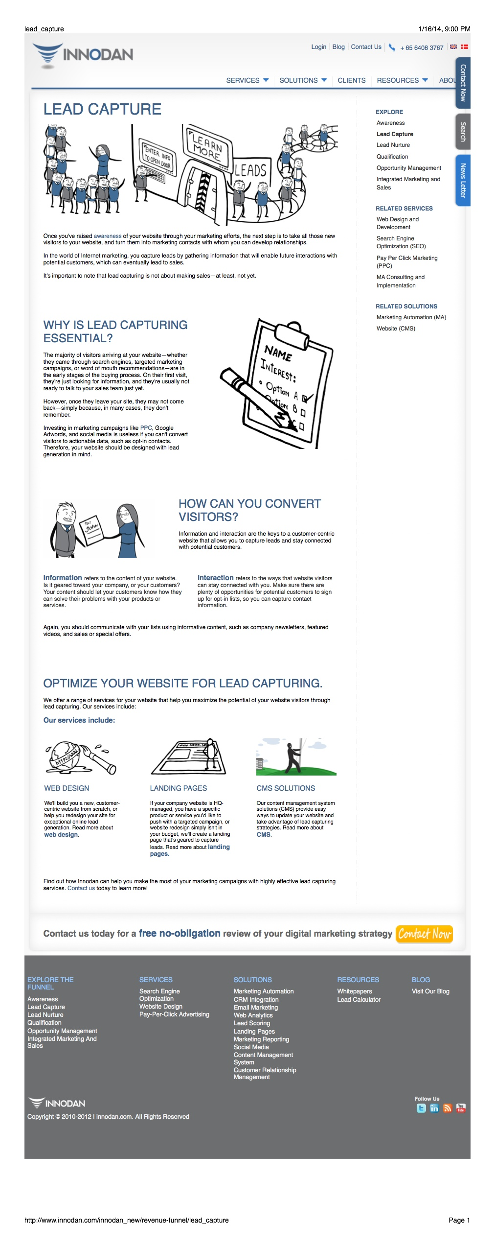 Web Content: Capturing Leads